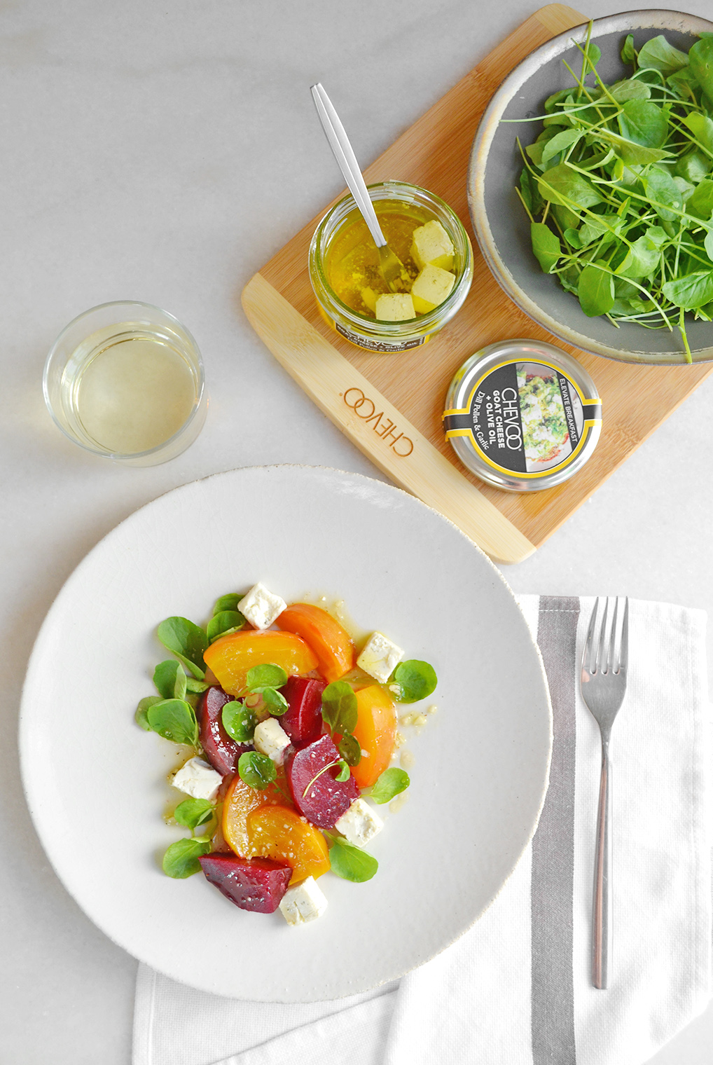 Roasted Beet Salad with CHEVOO and Watercress1